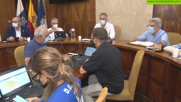 Torres anuncia el comienzo del realojamiento de los afectados por el volcán en un hotel de Fuencaliente y en otras instalaciones