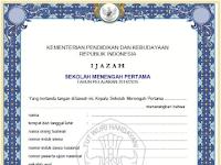 Download Blangko Ijazah SD, SMP, SMA dan SMK Th. 2017