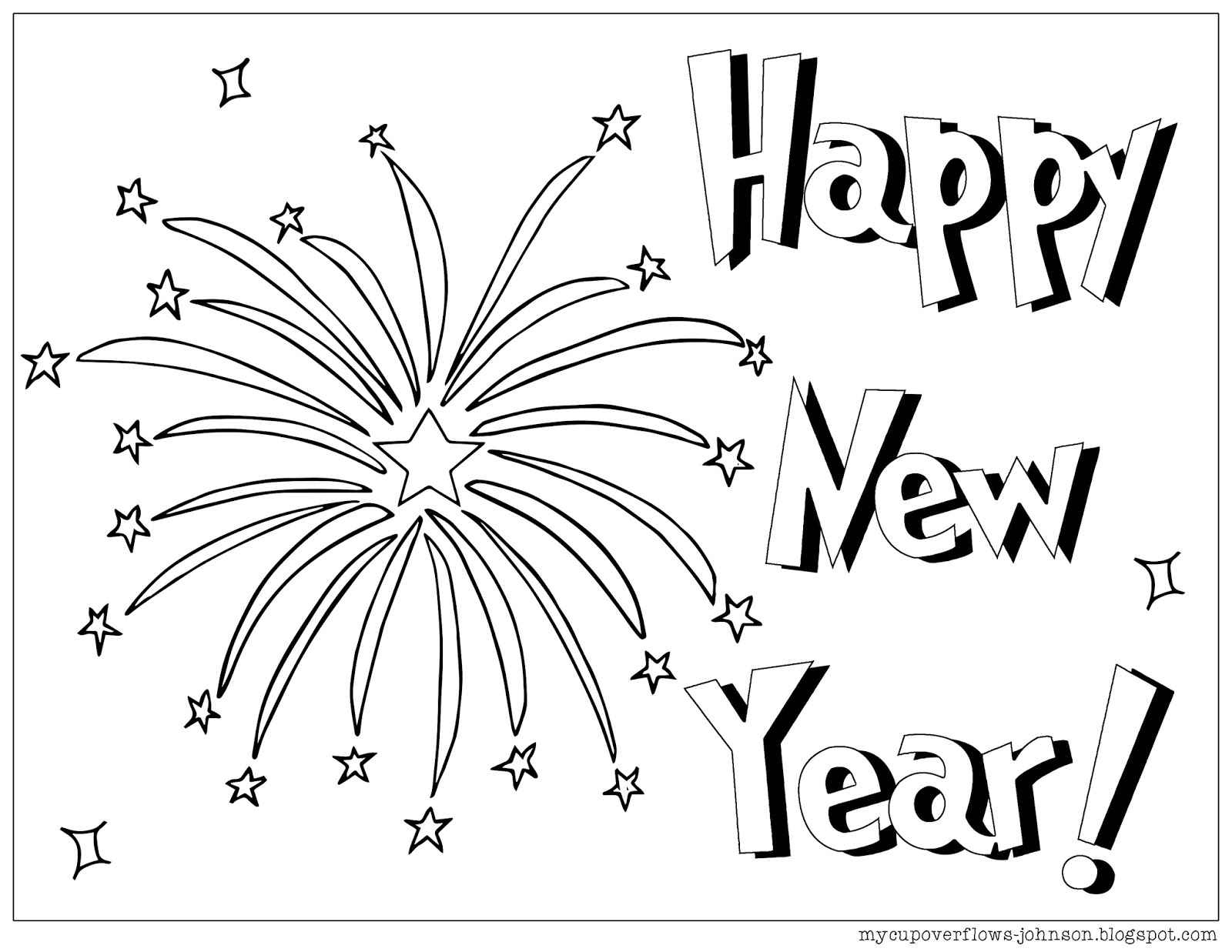 happy new year coloring pages - photo#22
