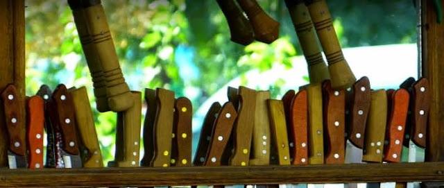 gagang pisau kayu