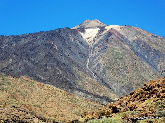 El volcán de Pico del Teide en Tenerife