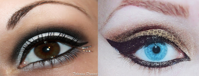 white smokey eye animal print