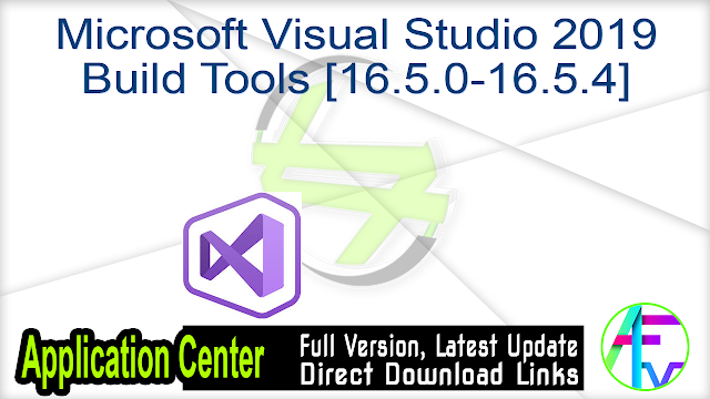 Microsoft Visual Studio 2019 Build Tools [16.5.0-16.5.4]