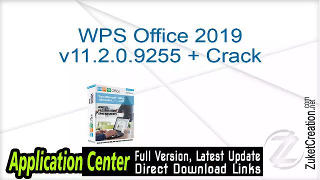 WPS Office 2019 v11.2.0.9255 + Crack