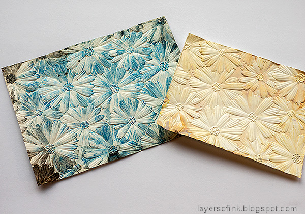 Layers of ink - Dry Embossed Floral Background by Anna-Karin Evaldsson.