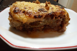 Receta de moussaka sin lactosa y sin gluten.