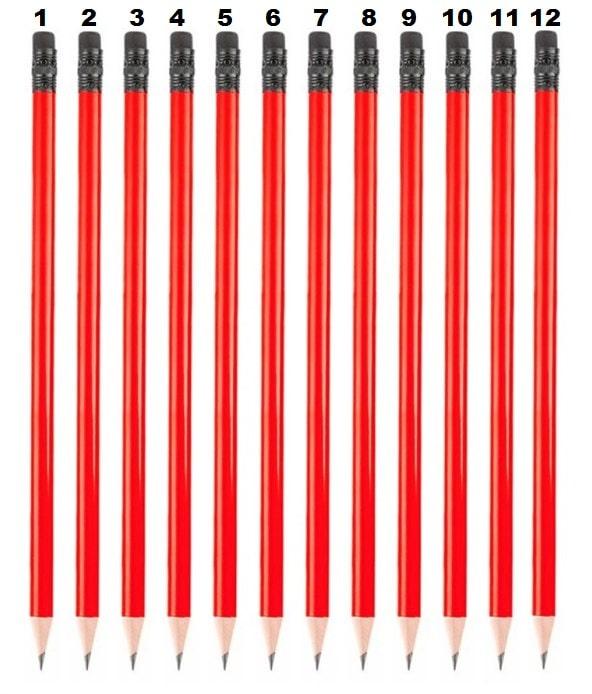 Bir düzine kalem kaç tanedir?