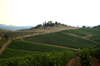 A typical landscape in Tuscany's Chianti region
