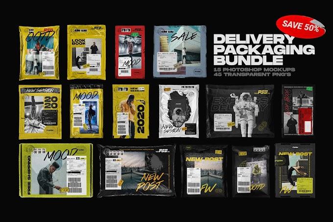 Delivery Packaging Mockup Bundle