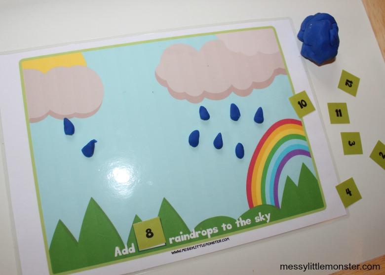 printable counting playdough mats