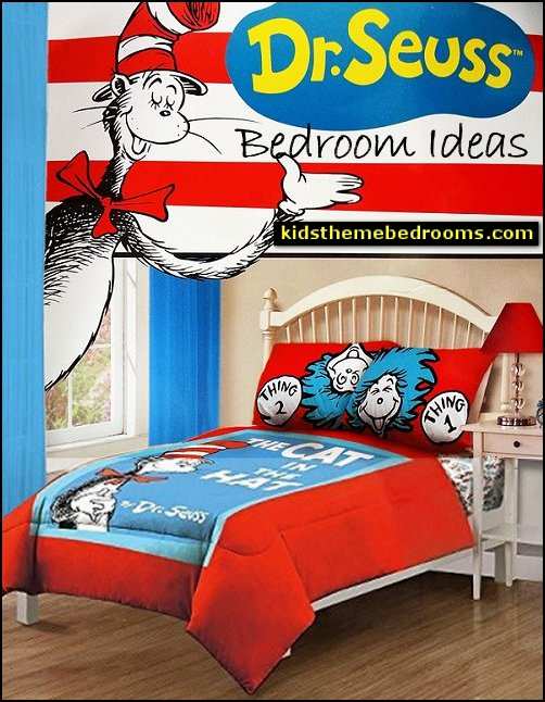 Dr Seuss bedding Dr Seuss bedrooms Cat in the Hat bedrooms dr seuss bedroom decor