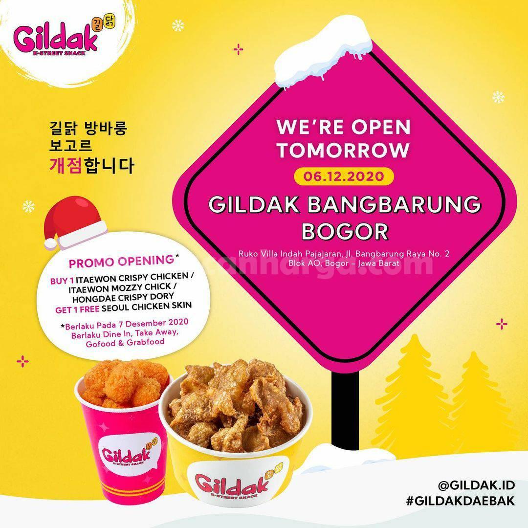 Gildak Bangbarung Bogor Opening Promo Gratis Seoul Chicken