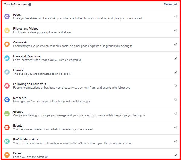 Retrieve Archived Facebook Messages