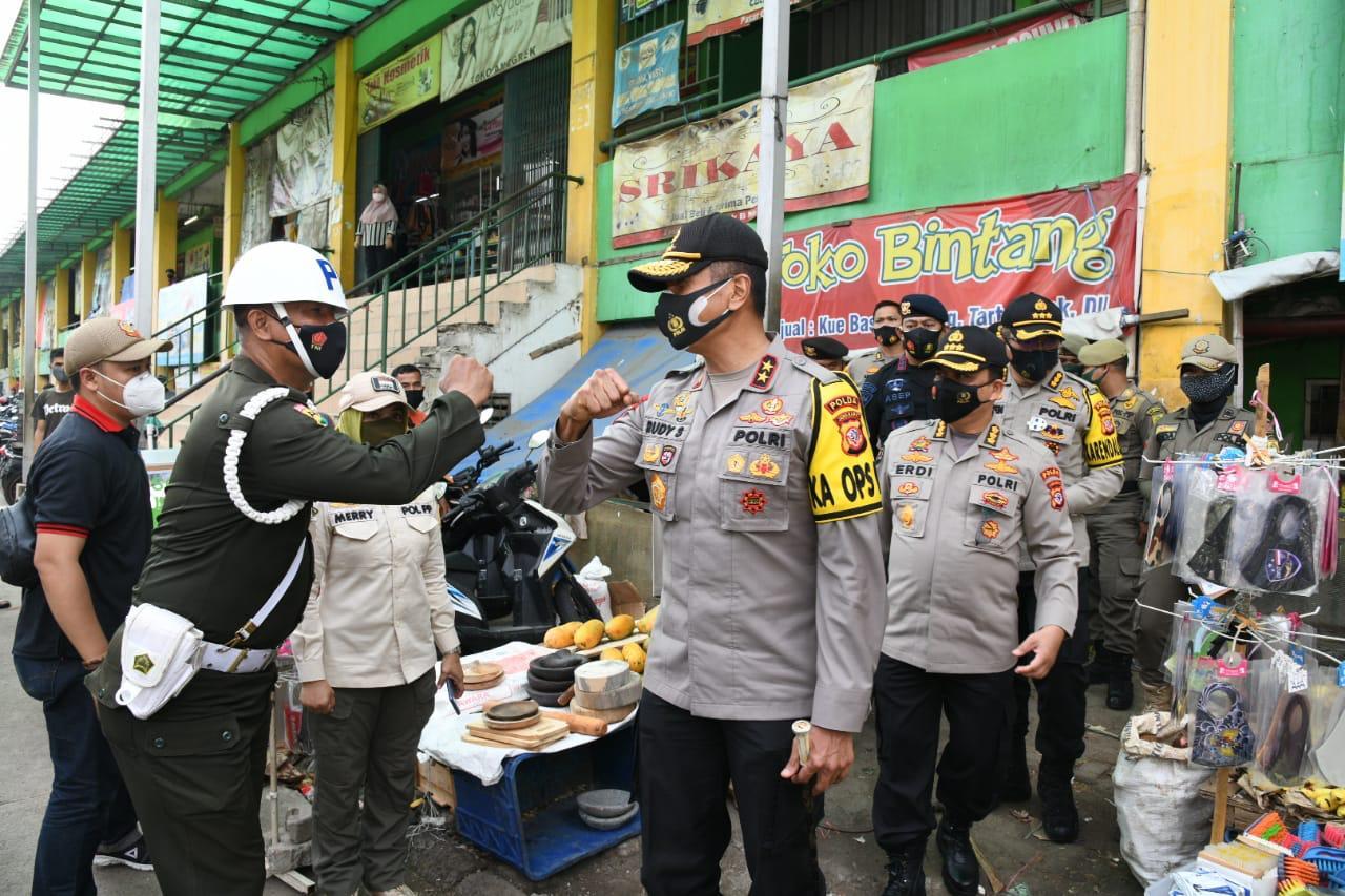 Kapolda Jabar Tinjau Giat Ops Yustisi Di  Kabupaten Bogor