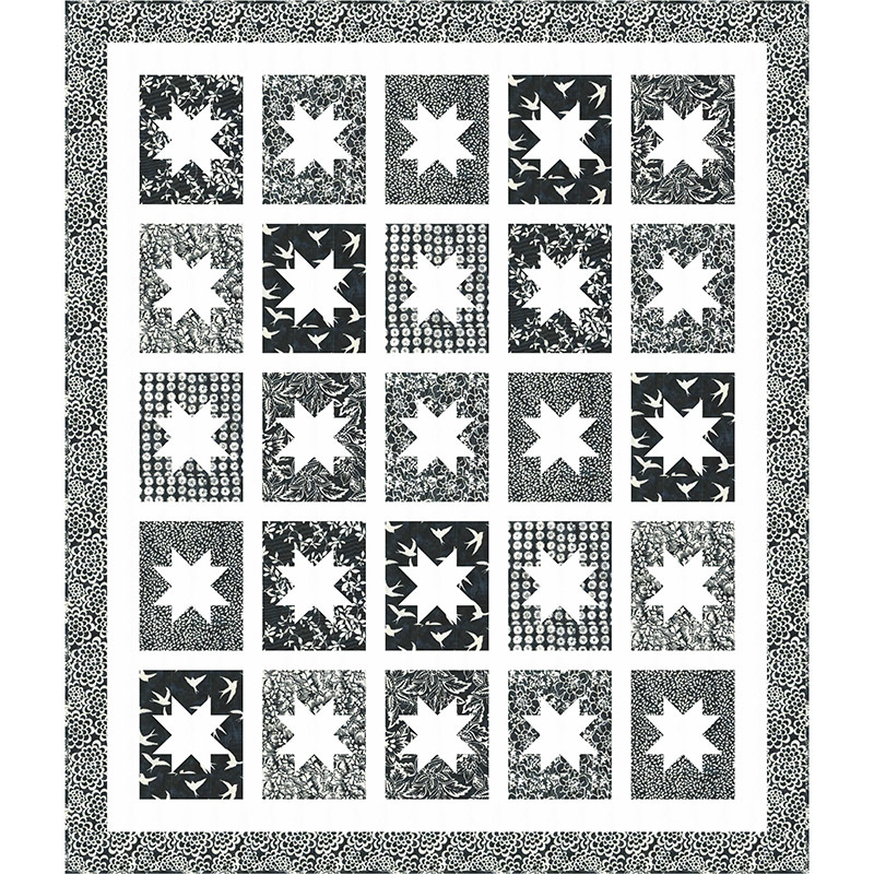 Quilt Inspiration: Free pattern day! Black and White quilts
