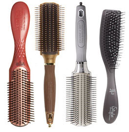 Styling hair brushes