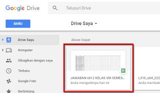 Cara mengolah jawaban hasil ulangan online di Google Spreadsheet