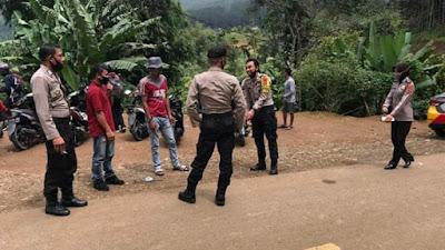 Dipadati Pengunjung, Polsek Lapri Aktifkan Patroli di Hutan Pinus Bulu Tanah