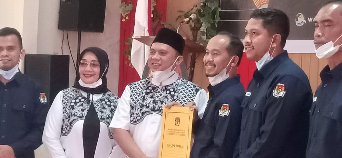 KPU Kabupaten Labuhanbatu Menetapkan Pasangan Erik-Ellya Rosa Calon Bupati dan Wakil Bupati Labuhanbatu Terpilih