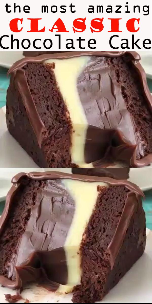 Classic Chocolate Cake #Classic #Chocolate #Cake #ClassicChocolateCake