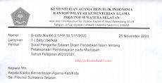 Surat Edaran Dirjen Pendis Terkait Pelaksanaan Pembelajaran Pada Madrasah Tahun 2020/2021