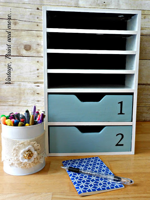 Vintage, Paint and more... stenciled and painted cabinet.