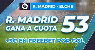 Paston megacuota Real Madrid vs Elche 13-3-2021