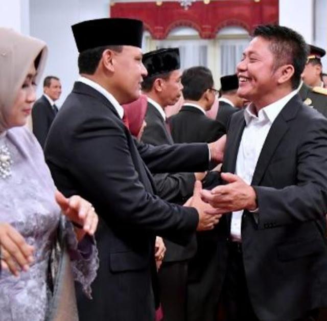 Gubernur Sumsel Hadiri  Pelantikan   Ketua KPK
