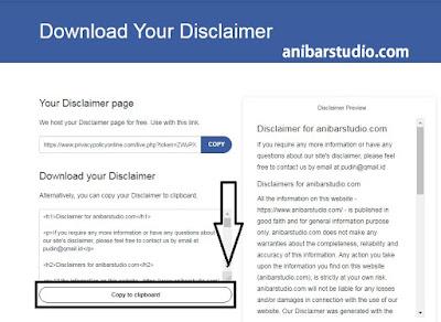 Cara mudah dan cepat membuat Disclaimer untuk blog | Terbaru