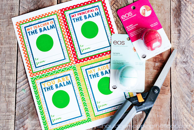 photograph about You're the Balm Teacher Free Printable referred to as Cost-free EOS Lip Balm Trainer Appreciation Printables i must