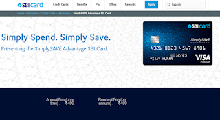Simply SAVE SBI Card,  How to Apply SBI Credit Card Online