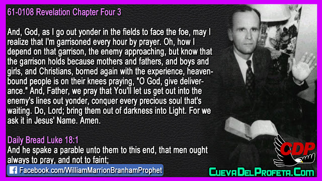 I am garrisoned every hour by prayer