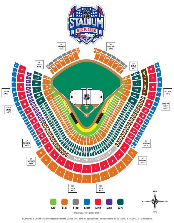 Seating Chart For Kings Ducks At Dodger Stadium Is Available