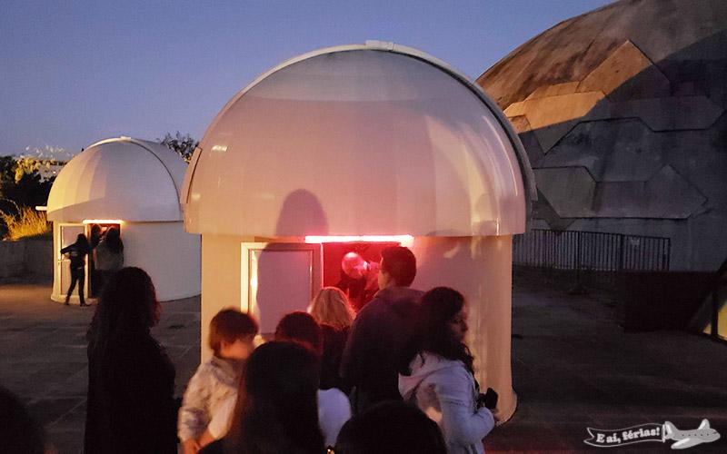 Observação do céu - Planetário da Gávea