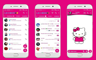 Cute Hello Kitty Theme For YOWhatsApp & Fouad WhatsApp By Leidiane