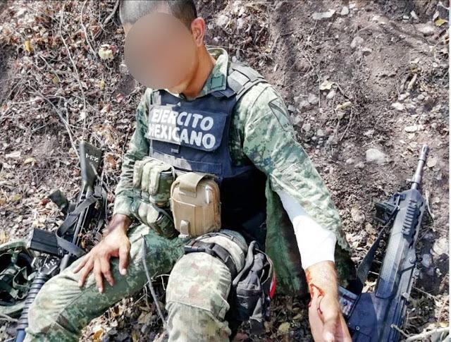 2 Soldados heridos en enfrentamiento contra Sicarios en Michoacan