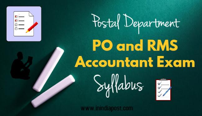 PO and RMS Accountant Exam Syllabus image