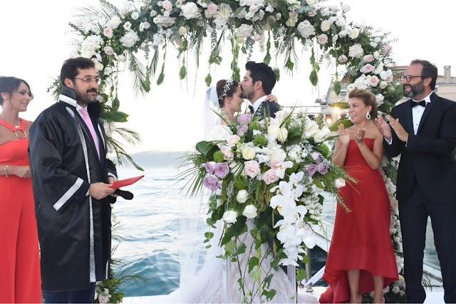 بالصور شاهد حفل زفاف بوراك اوزجفيت فهرية افجين
