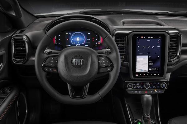 Novo Fiat Toro 2022 - interior - painel