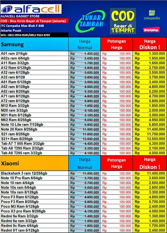 Harga HP Samsung Murah ITC Cempaka Mas Jakarta