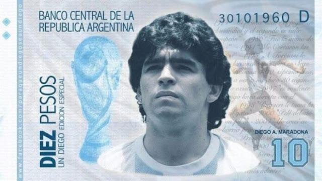Proponen sacar un billete con la cara de Maradona en Argentina