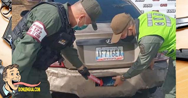 Capturado en el Zulia por llevar 25 panelas de marihuana escondidas en el carro
