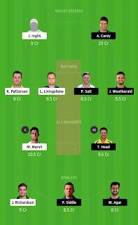Dream 11 Team BBL