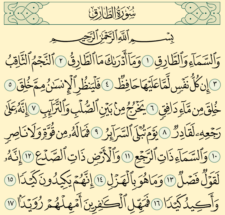 ,شرح, وتفسير, سورة, الطارق surah at tariq,