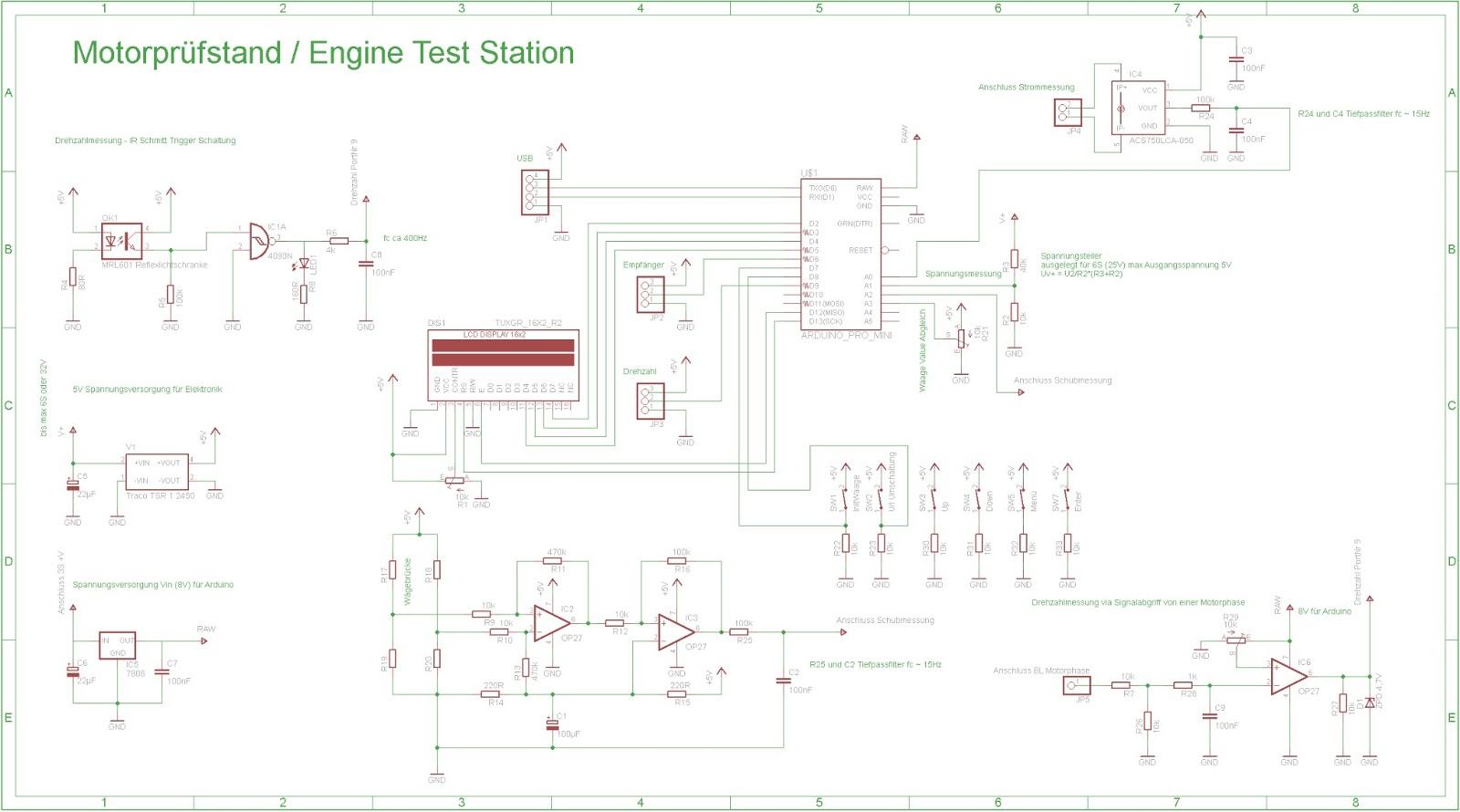 Brushless Engine Test Bench Brushless Motorprufstand