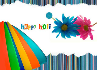 Happy holi with flowers