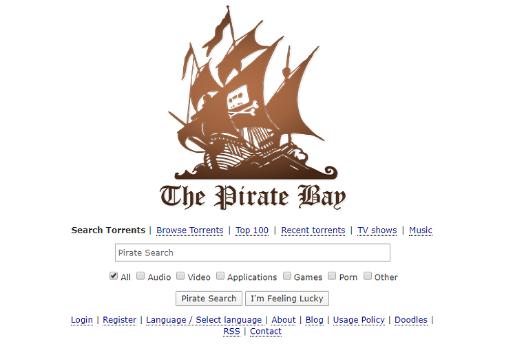 Pirate Bay Official Website