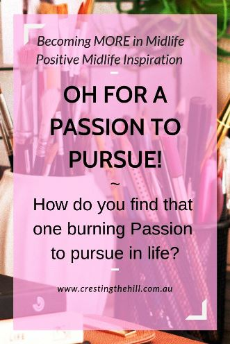 What do you do when you don't have a driving Passion? How do you go about finding something to inspire you to pursue a new direction? #passion #inspiration