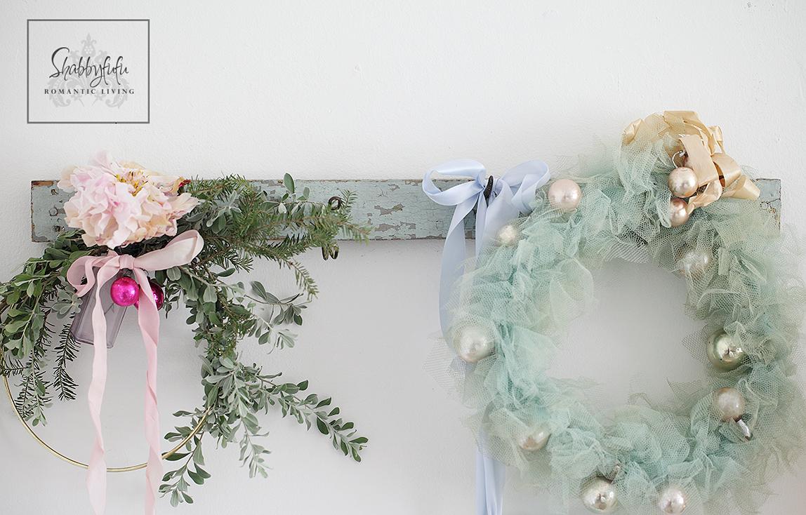 vintage tulle christmas wreath