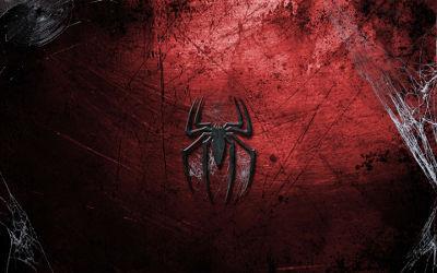 Logo Spider-Man Toile Comics - Fond d'écran en Ultra HD 4K 2160p
